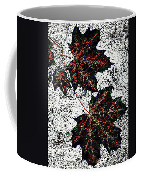 Cheerful Coffee Mug featuring the digital art Maple Mania 17 by Will Borden