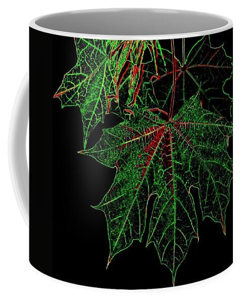 Cheerful Coffee Mug featuring the digital art Maple Mania 18 by Will Borden