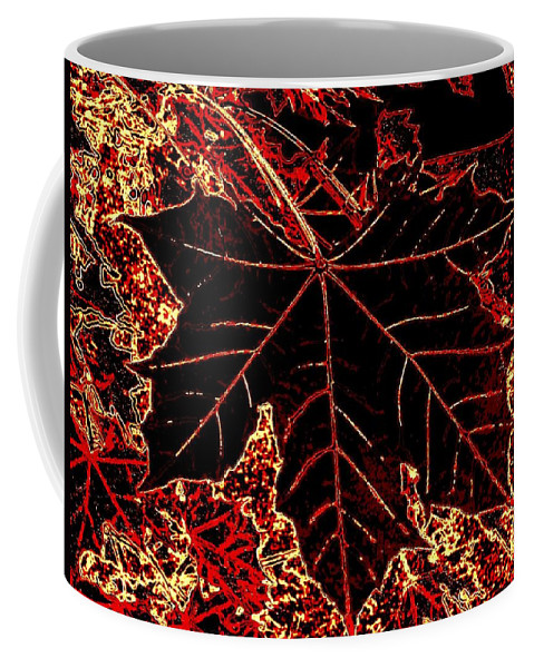 Cheerful Coffee Mug featuring the digital art Maple Mania 9 by Will Borden