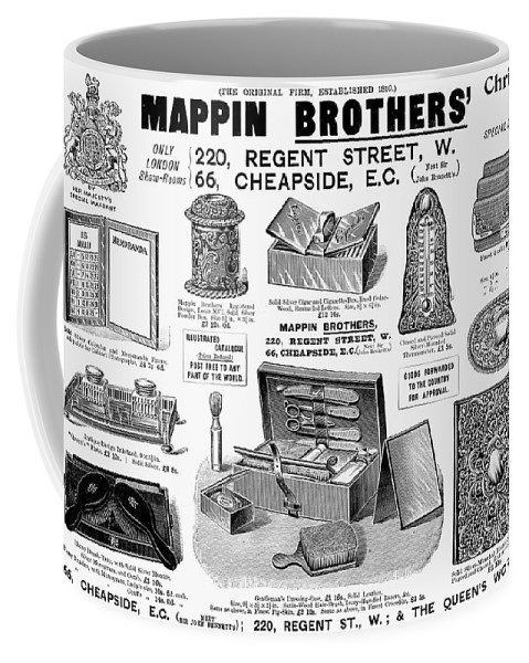 1895 Coffee Mug featuring the photograph Mappin Brothers Ad, 1895 by Granger