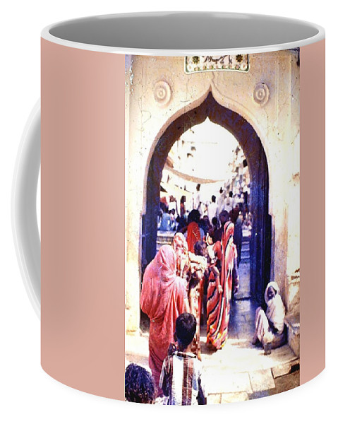 Coffee Mug featuring the photograph Mapusa, Goa by Barron Holland