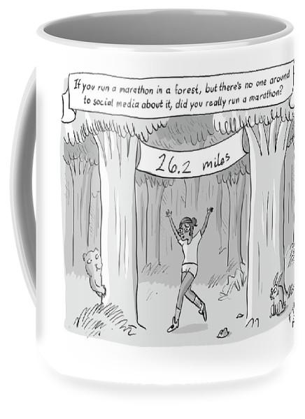 Marathon In The Woods FINISH Coffee Mug