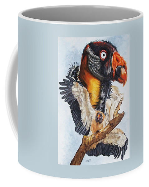 Vulture Coffee Mug featuring the mixed media Marauder by Barbara Keith