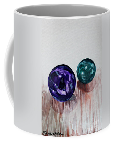 Marbles Coffee Mug featuring the painting Marbles Of My Reflection by Elizabeth Robinette Tyndall
