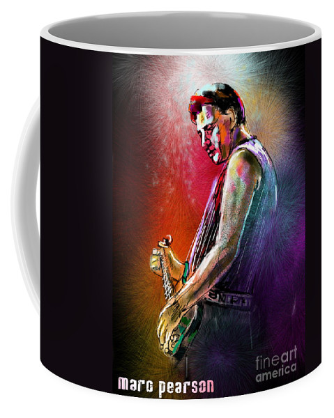 Marc Pearson Portrait Coffee Mug featuring the digital art Marc Pearson by Miki De Goodaboom