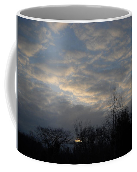 Sky Coffee Mug featuring the photograph March Clouds In Dawn Sky by Kent Lorentzen