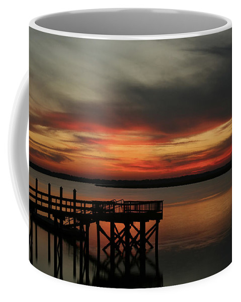 Sunset Coffee Mug featuring the photograph March Sunset by Phill Doherty