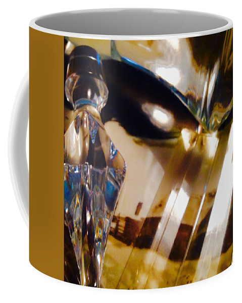 Coffee Mug featuring the photograph Marci Gras In Abstract by Jacqueline Manos