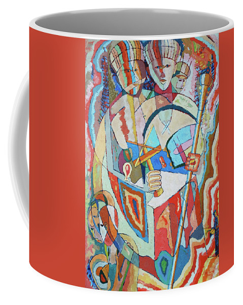 Johnpowellpaintings Coffee Mug featuring the painting Marcus Garvey And Elders by John Powell