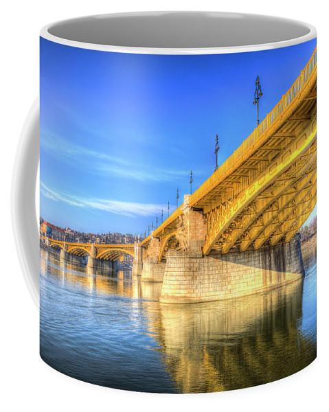 Margit Híd Coffee Mug featuring the photograph Margaret Bridge Budapest by David Pyatt