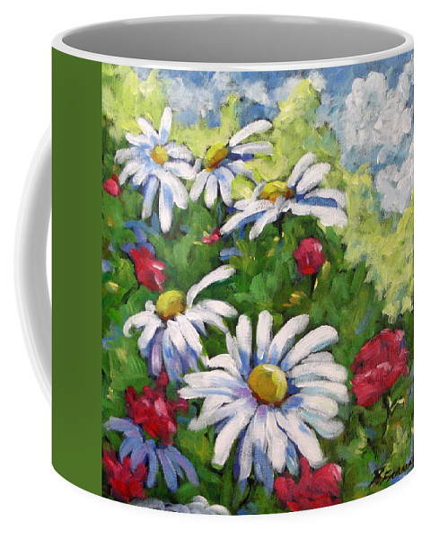 Daysy Coffee Mug featuring the painting Marguerites 002 by Richard T Pranke