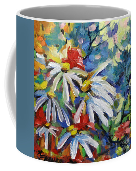 Art Coffee Mug featuring the painting Marguerites by Richard T Pranke