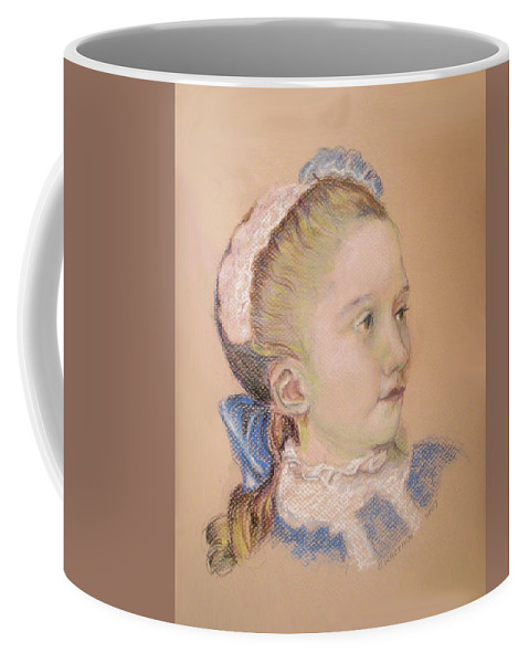 Maria Fredrika Coffee Mug featuring the pastel Maria Fredrika by Olga Kaczmar