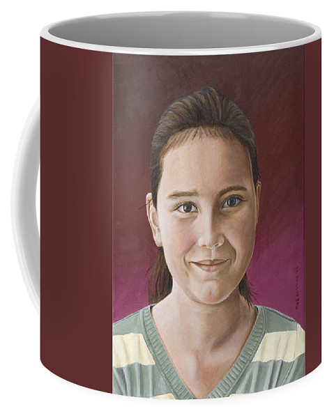 Portrait Coffee Mug featuring the painting Maria by Rob De Vries