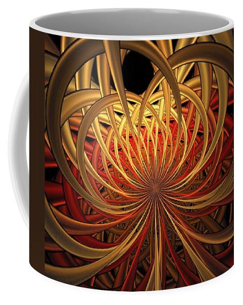 Digital Art Coffee Mug featuring the digital art Marigold by Amanda Moore
