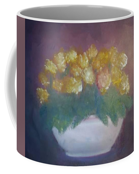 Marigolds Coffee Mug featuring the painting Marigolds by Sheila Mashaw