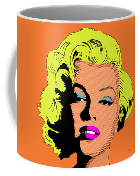 Marilyn Monroe Coffee Mug featuring the digital art Marilyn-3 by Marlene Watson