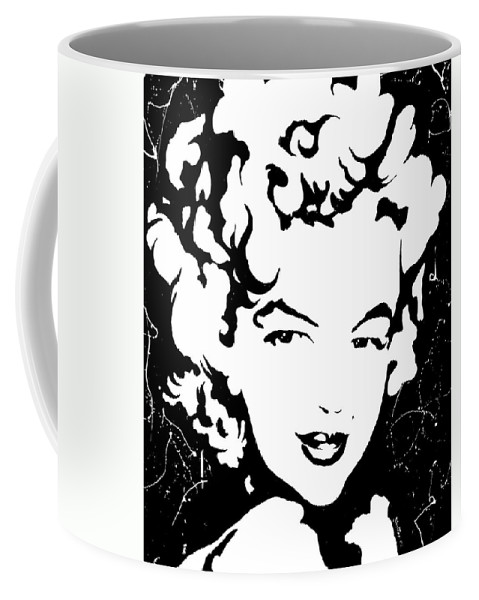 Portrait Coffee Mug featuring the painting Marilyn Monroe by Curtiss Shaffer