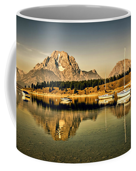 Anchor Coffee Mug featuring the photograph Marina by Maria Coulson