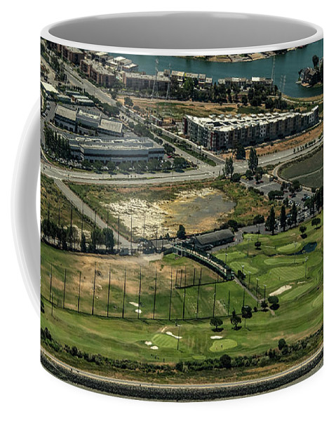 Mariners Point Golf Center Coffee Mug featuring the photograph Mariners Point Golf Center In Foster City, California Aerial Photo by David Oppenheimer