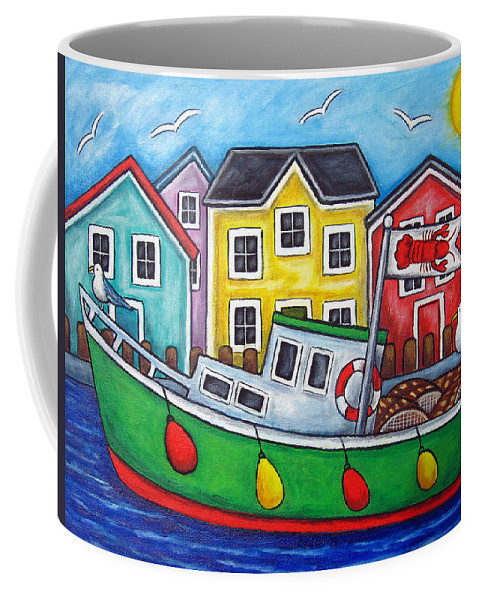 Lisa Lorenz Coffee Mug featuring the painting Maritime Special by Lisa Lorenz