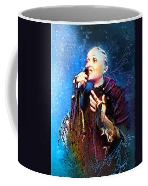 Music Coffee Mug featuring the painting Mariza by Miki De Goodaboom