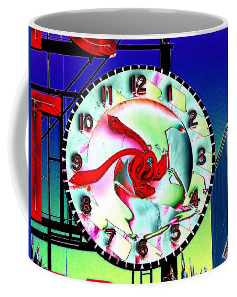 Seattle Coffee Mug featuring the photograph Market Clock 2 by Tim Allen