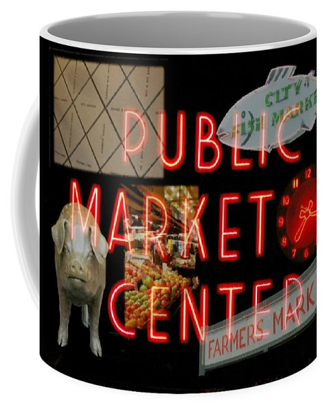 Seattle Coffee Mug featuring the photograph Market Collage by Tim Allen