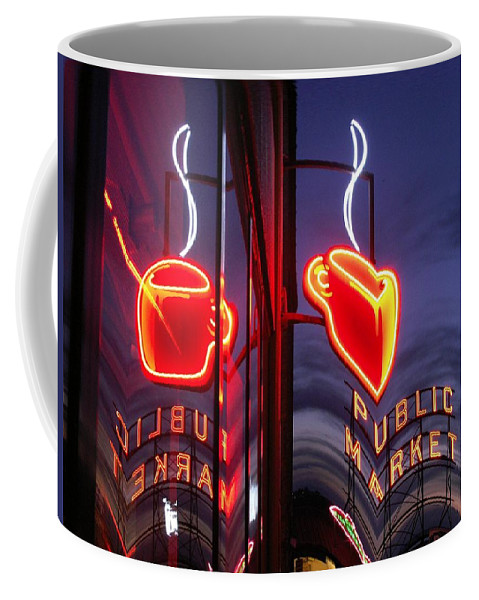 Seattle Coffee Mug featuring the photograph Market Cup 2 by Tim Allen