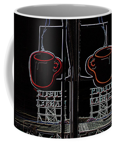 Seattle Coffee Mug featuring the photograph Market Cup 3 by Tim Allen