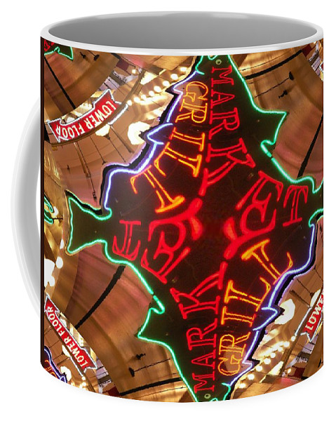 Seattle Coffee Mug featuring the photograph Market Grill by Tim Allen