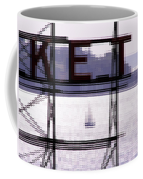 Seattle Coffee Mug featuring the digital art Market Sail by Tim Allen