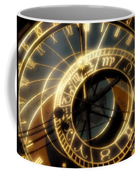 Clock Coffee Mug featuring the photograph Marking Time by Ann Garrett
