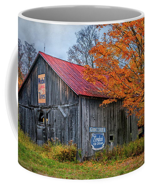 Americana Coffee Mug featuring the photograph Marlboro Country - Vermont Barn Art by Expressive Landscapes Fine Art Photography by Thom
