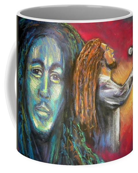 Marley Coffee Mug featuring the drawing Marley by Jan Gilmore