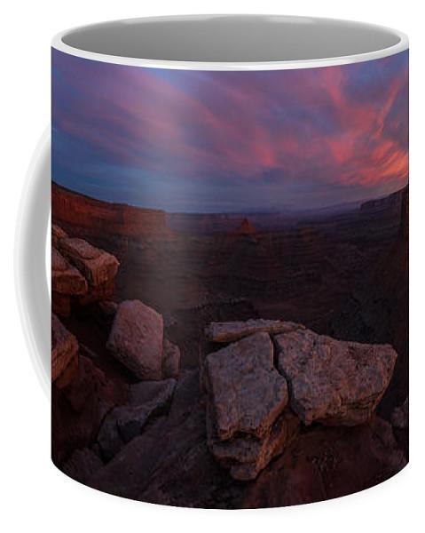 Utah Coffee Mug featuring the photograph Marlobro Point Panorama by Dustin LeFevre
