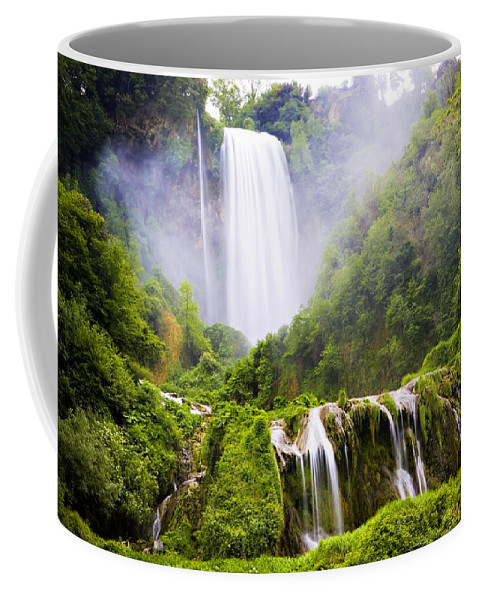 Italy Coffee Mug featuring the photograph Marmore Waterfalls Italy by Marilyn Hunt