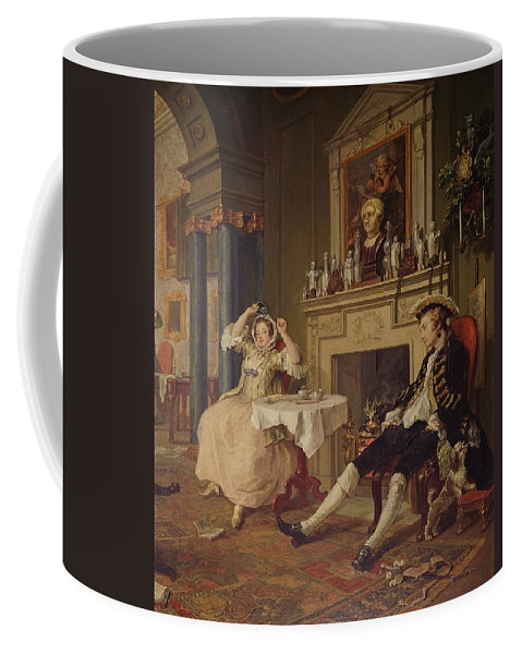 Marriage Coffee Mug featuring the painting Marriage A La Mode II The Tete A Tete by William Hogarth