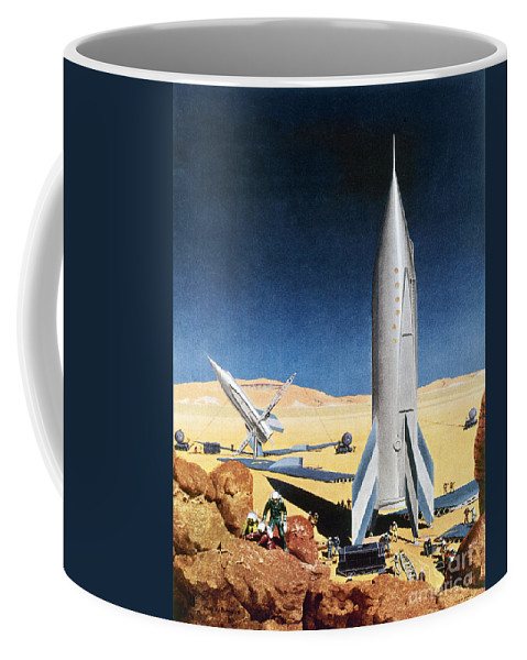 1950s Coffee Mug featuring the photograph Mars Mission, 1950s by Granger