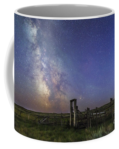 Antares Coffee Mug featuring the photograph Mars, Saturn & Milky Way Over Ranch by Alan Dyer