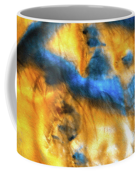 Mars Coffee Mug featuring the photograph Mars Surface Orange And Blue by Matthias Hauser