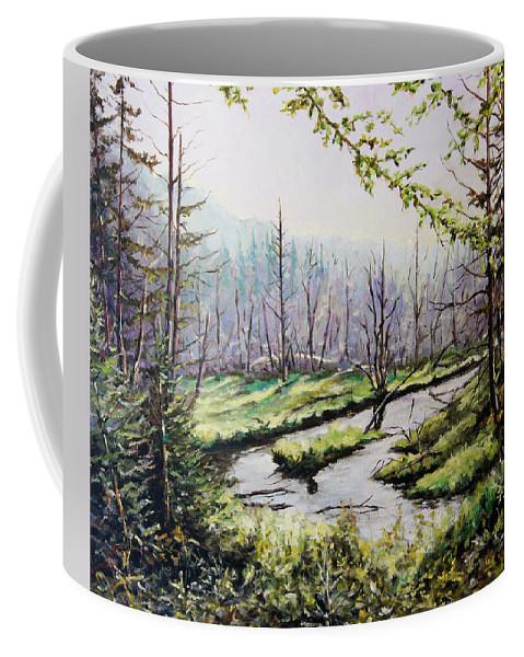 Art Coffee Mug featuring the painting Marsh Lands by Richard T Pranke
