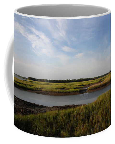 Photography Coffee Mug featuring the photograph Marsh Scene Charleston Sc by Susanne Van Hulst