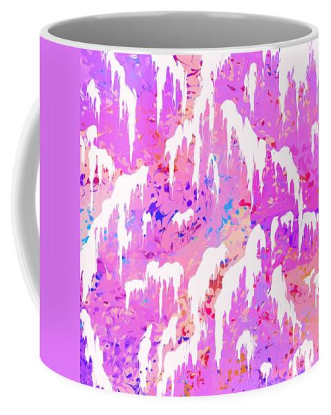 Abstract Coffee Mug featuring the digital art Marshmallow Mountain by Rachel Christine Nowicki
