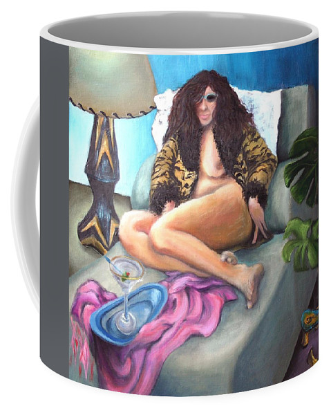 Nude Coffee Mug featuring the painting Martini Eclectic by Minaz Jantz