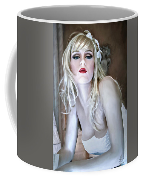Female Coffee Mug featuring the digital art Martini... Straight Up by Pennie McCracken