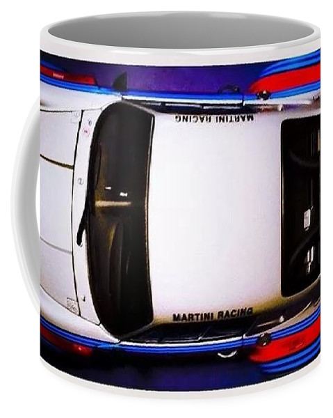 Diecast Martini Porsche Racing Car Coffee Mug featuring the photograph Martini Time by D G Reiter