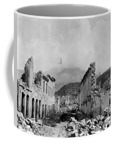 1902 Coffee Mug featuring the photograph Martinique: Ruins by Granger
