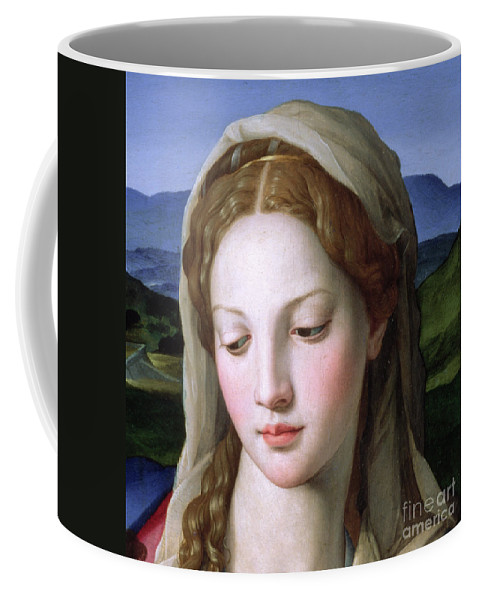 Holy Coffee Mug featuring the painting Mary by Agnolo Bronzino