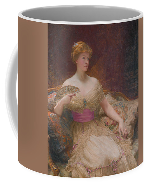 19th Century Art Coffee Mug featuring the painting Mary Frances Mackenzie by Frank Dicksee